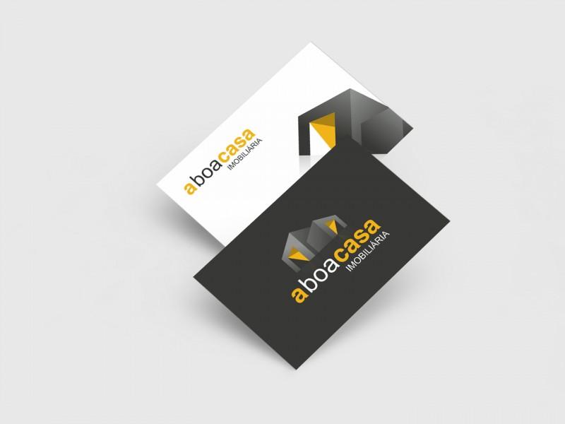 Cartão de visita-a boa casa-publicidade-design gráfico